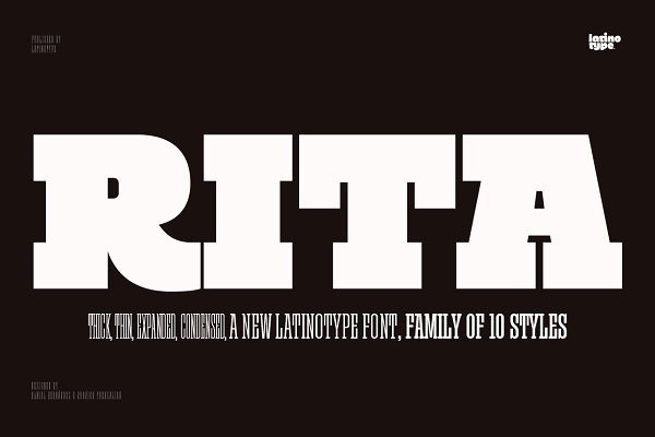 Fonts: Latinotype - Rita - Intro Offer 69% off!