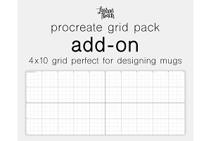 Procreate Grid Pack Add-On 4x10 Grid