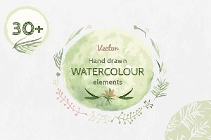 Watercolour Floral Elements
