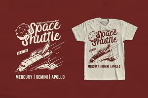 Space Shuttle T-Shirt Design