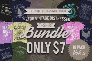 10 T-Shirt Design Bundle Vol. 2