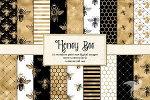 Honey Bee Digital Paper