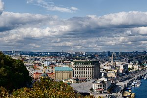 Panoramic view of Kiev