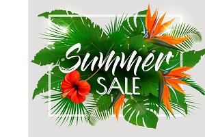 Tropical Summer Sale Background