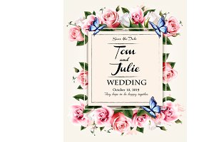 Vintage wedding invitation desing