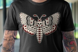 Death Head Moth Design