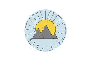 Geometric Mountain Burst