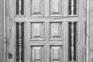 Vintage Door in Black and White