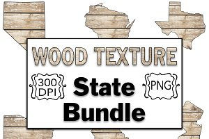 Wood Texture - 50 States Clipart