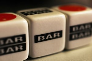 Bar Slots Cube Toys. Macro Close up.