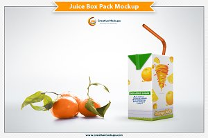 Juice Box Pack Mockup