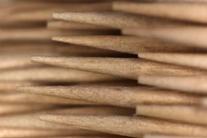 Wood Toothpicks Stack