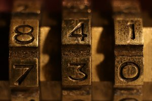 Bronze Numbers Lock