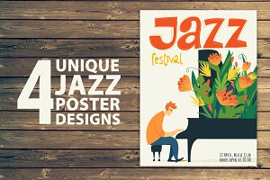 4 Unique Jazz Poster Designs