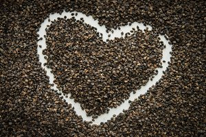 Seeds with Heart Drawn in Them