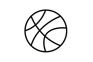 Web line icon. Basketball black