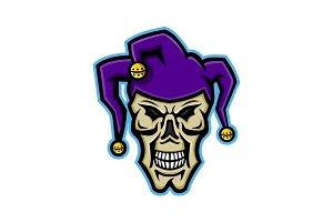 Court Jester Skull Mascot