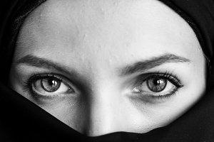 Islamic woman portrait