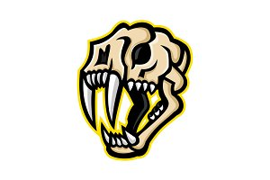 Saber-toothed Cat Skull Mascot