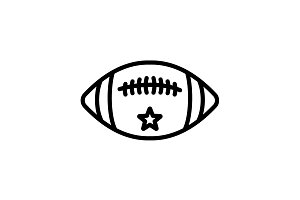 Web line icon. American football