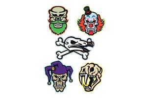 Skulls and Bones Mascot Collection