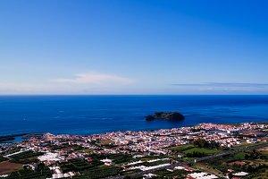 Aerial view to Islet of Vila Franca do Campo ,Sao Miguel, Azores, Portugal
