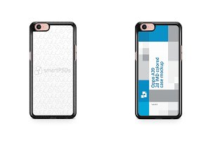 Oppo A39 2d Colored Case Mockup