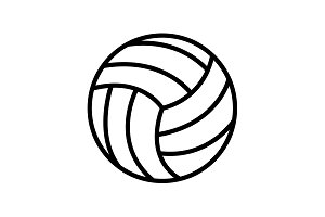 Web line icon. Volleyball black