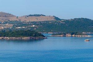 Ionian sea coast view