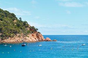Mediterranean rocky coast view