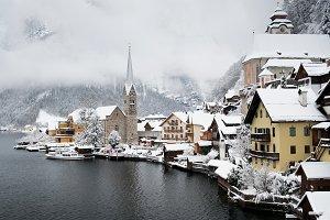 Hallstat village in the Austria