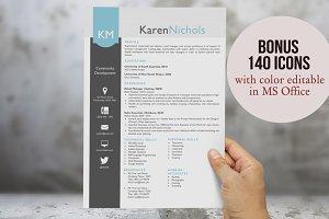 Eye-catching Word resume design