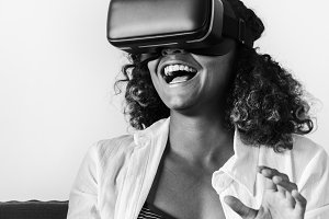 Woman experiencing the Vr