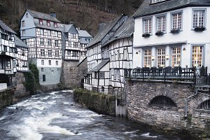 Monschau town in the Germany