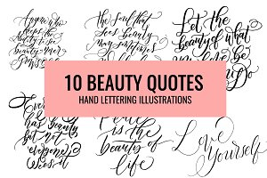 Beauty Quotes Hand Lettering