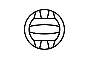 Web line icon. Water polo black