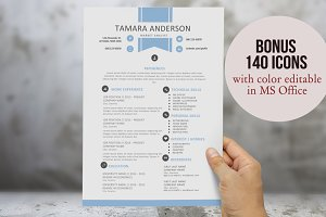 Blue ribbon resume for Word
