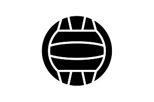 Web icon. Water polo black on white