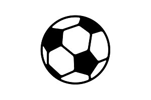 Web icon. Football black on white