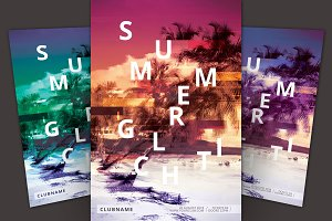 Summer Glitch Flyer