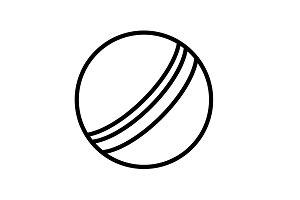 Web line icon. Ball, children's ball