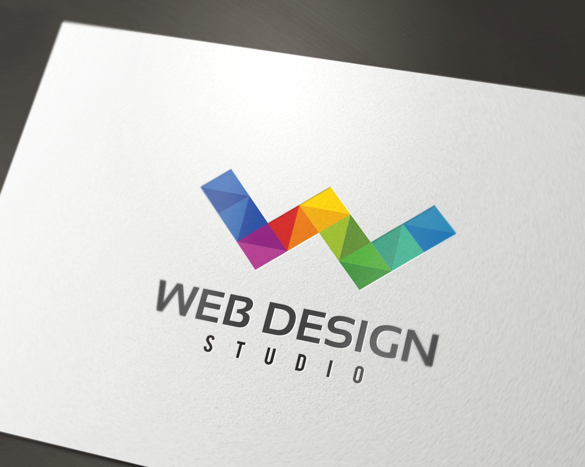 web design w letter logo logo templates creative market. Black Bedroom Furniture Sets. Home Design Ideas
