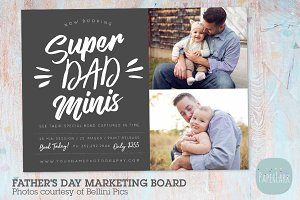 IF026 Father's Day Marketing Board