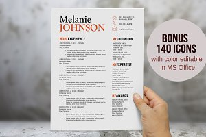 3 in 1 modern resume template