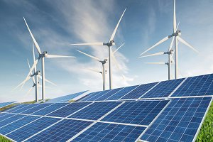 Alternative energy concept and idea