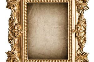 Picture frame grungy canvas JPG