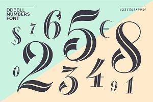 DDBBLL. Numbers font