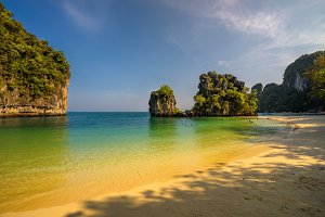 Beach on the Koh Hong island in Thailand