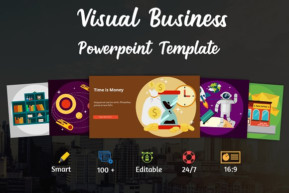 Visual Business Powerpoint Template Presentation Templates