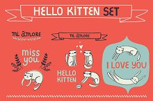 Hello kitten set